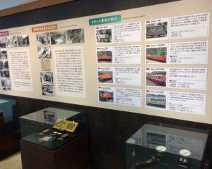 宇奈月駅2F展示コーナー