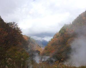 祖母谷地獄から唐松岳を眺める