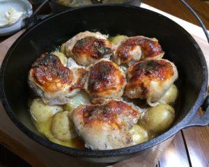 鶏もも自家製ヨーグルト漬け+ポテト&ニンジン