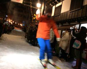 たいまつスキー滑走