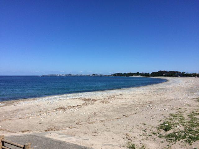 晴れた日の石田浜