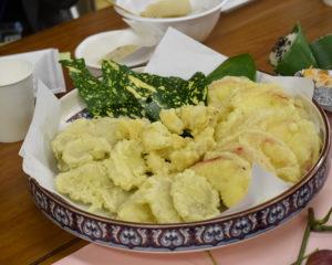 りんご・菊芋の天ぷら