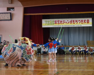かわいい獅子舞