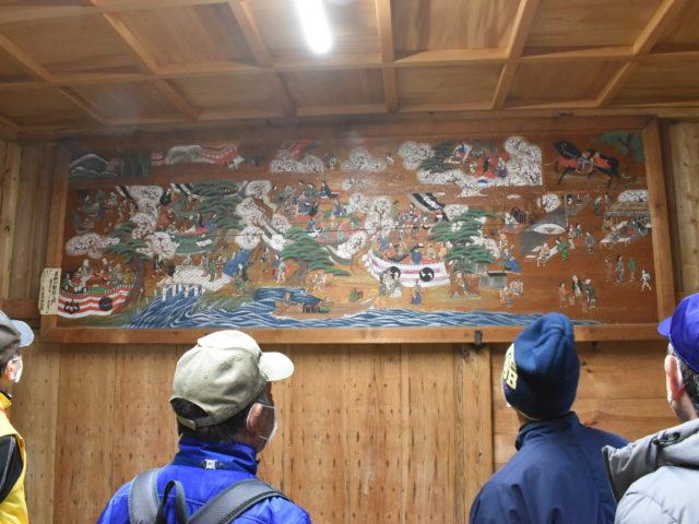 吉野山観桜の絵馬