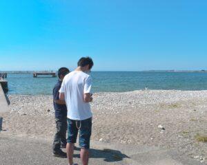 快晴の石田浜